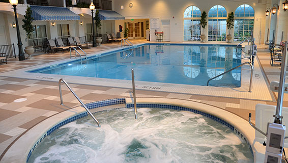 New Indoor Pool Complex and Whirlpool Jacuzzi