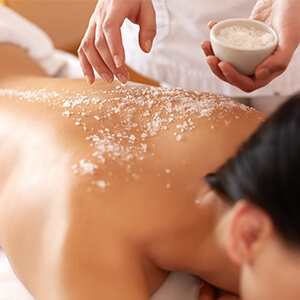 Body Scrub at the Chocolate Spa